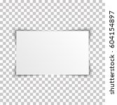 blank rectangle album template... | Shutterstock .eps vector #604154897