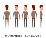 set of male characters. man ... | Shutterstock .eps vector #604167257