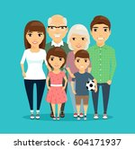 family. all family members... | Shutterstock .eps vector #604171937