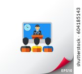 online video conference icon | Shutterstock .eps vector #604185143