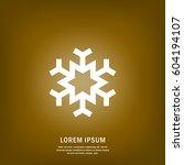 snowflake icon | Shutterstock .eps vector #604194107