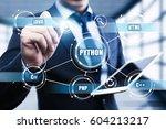 python programming language web ...   Shutterstock . vector #604213217