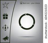 circular arrows vector icon | Shutterstock .eps vector #604221023