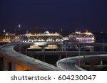 cruise ship terminal | Shutterstock . vector #604230047