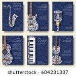 set of musical ornament... | Shutterstock .eps vector #604231337
