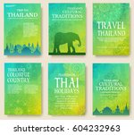 set of thailand country... | Shutterstock .eps vector #604232963
