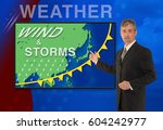 a tv television news weather... | Shutterstock . vector #604242977