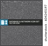 database and network icon set... | Shutterstock .eps vector #604245197