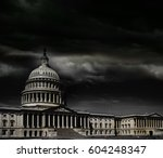 the united states capitol... | Shutterstock . vector #604248347