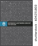 database and network icon set... | Shutterstock .eps vector #604251803