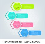 set  group  collection of four... | Shutterstock .eps vector #604256903