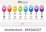 timeline infographics design... | Shutterstock .eps vector #604266227