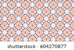 sloping colorful ornament for... | Shutterstock . vector #604270877