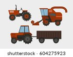 agriculture industrial farm... | Shutterstock .eps vector #604275923