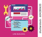 link building conceptual design | Shutterstock .eps vector #604280633