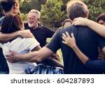 group of diversity people... | Shutterstock . vector #604287893