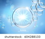 water bubbles with shining... | Shutterstock .eps vector #604288133