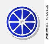 fruits lemon sign. vector. new... | Shutterstock .eps vector #604291637