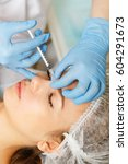 injections under the skin. the... | Shutterstock . vector #604291673