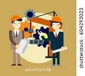 architecture conceptual design | Shutterstock .eps vector #604293023