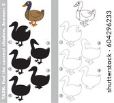 duck with different shadows to... | Shutterstock .eps vector #604296233