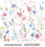 hand painted multicolor... | Shutterstock . vector #604302887