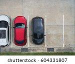 empty parking lots  aerial view. | Shutterstock . vector #604331807