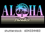 vintage tropical graphic.... | Shutterstock .eps vector #604334483
