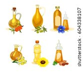 vector oil set.different kinds... | Shutterstock .eps vector #604338107
