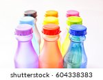 many colored plastic bottle