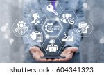 customer service concept.... | Shutterstock . vector #604341323