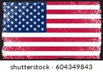 vector grunge american flag... | Shutterstock .eps vector #604349843