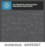 big icon set clean vector | Shutterstock .eps vector #604352027