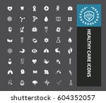 health care icon set clean... | Shutterstock .eps vector #604352057