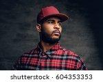 portrait of black bearded male... | Shutterstock . vector #604353353