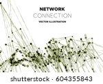 communication social mesh.... | Shutterstock .eps vector #604355843