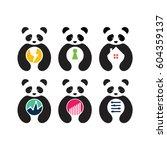 business panda logo set | Shutterstock .eps vector #604359137