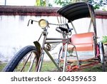 old bicycle for transport people | Shutterstock . vector #604359653