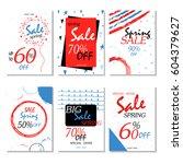 geometrical social media sale... | Shutterstock .eps vector #604379627