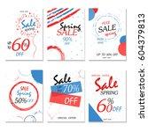 geometrical social media sale... | Shutterstock .eps vector #604379813