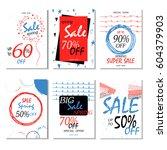geometrical social media sale... | Shutterstock .eps vector #604379903