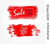 geometrical social media sale... | Shutterstock .eps vector #604379933