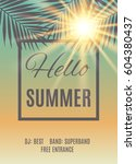 summer party poster background. ... | Shutterstock .eps vector #604380437