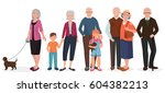 old people grandparents couples ... | Shutterstock . vector #604382213