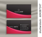 dark business card design with... | Shutterstock .eps vector #604387247