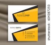 creative business card design... | Shutterstock .eps vector #604387253