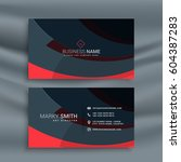 dark business card design with... | Shutterstock .eps vector #604387283