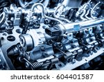 the powerful engine of a car....   Shutterstock . vector #604401587