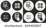 calculator vector icons set.... | Shutterstock .eps vector #604402847