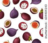 vector seamless pattern with... | Shutterstock .eps vector #604404143